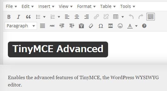 TinyMCE Advanced_1